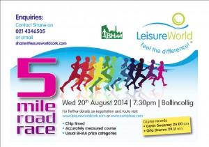 LeisureWorld BHAA 5 Mile 20th August 2014