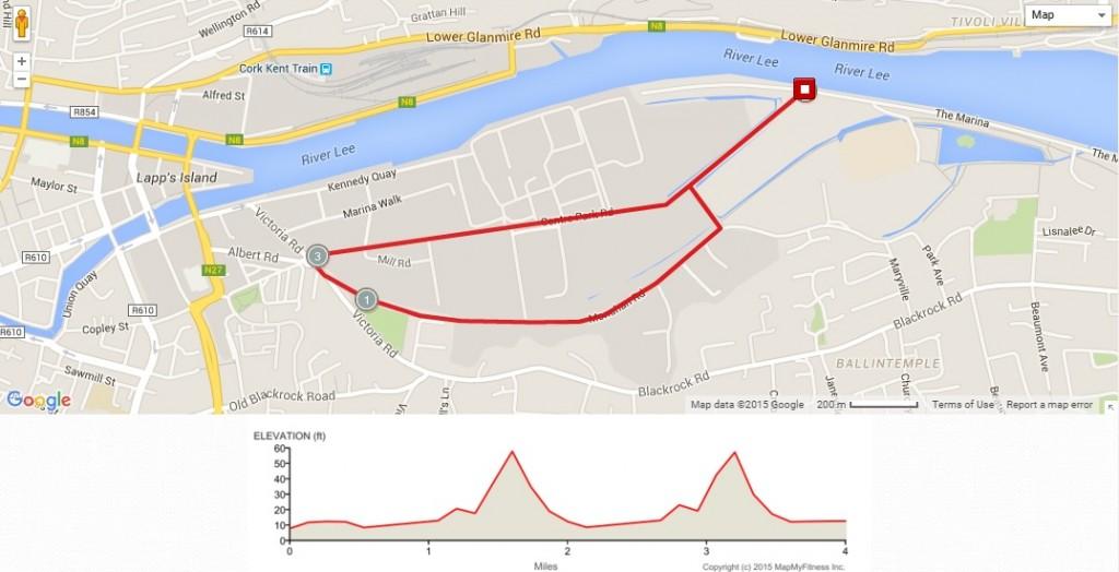 HSE 4 mile route