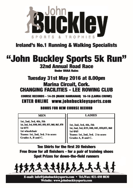 John Buckley 2016 Cork BHAA Poster updated